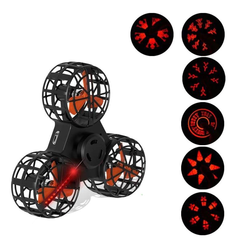 Regalo di natale led volante della fidget spinner drone cubo di luce elettronico anti-stress relief giocattoli per i bambini bambini giocattolo del ragazzo del capretto ragazzi