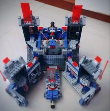 2016 New LEPIN 14006 1115Pcs Nexus Knights The Fortrex Castle Building Block Clay Aaron Fox Axl Minifigures with legoed 70317