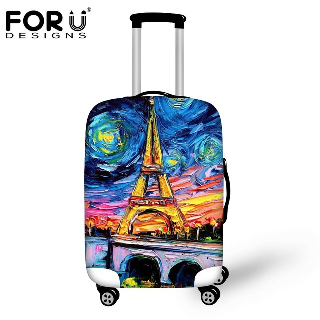 FORUDESIGNS 3D Painting Travel Luggage Protective Cover For 18 20 22 24 26 28 30inch Trunk Case Waterproof Travel Suitcase Cover
