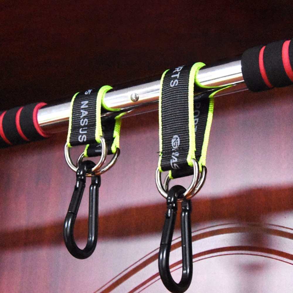 Fitness Lanyard Hook Trapeze Hanging Sandbag Multifunction Ring Hanging Belt Rope with Hook Strength Training Fitness Equipment