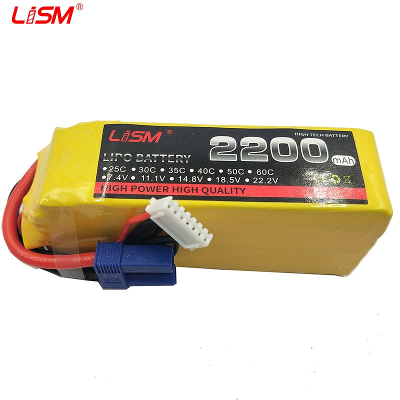 <font><b>Lipo</b></font> Battery <font><b>6S</b></font> 22.2V <font><b>2200mah</b></font> 30c RC <font><b>LiPo</b></font> Battery for rc airplane Toy Car Boat Quadcopter Remote Control Free shipping#40B40 image