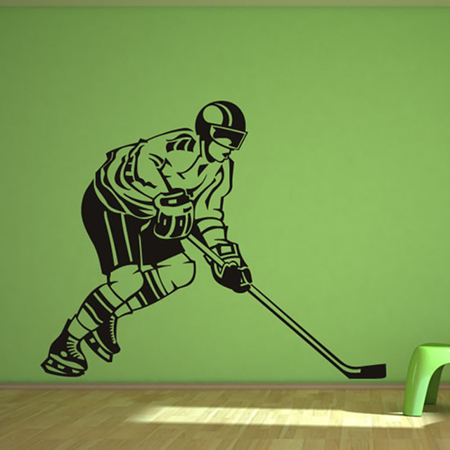 Side View Hockey Player Wall Decal Vinyl Removable Sport ...