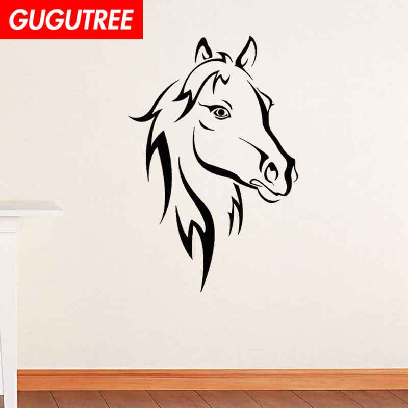 Decorate black horse art wall sticker decoration Decals mural painting Removable Decor Wallpaper LF 157 in Wall Stickers from Home Garden