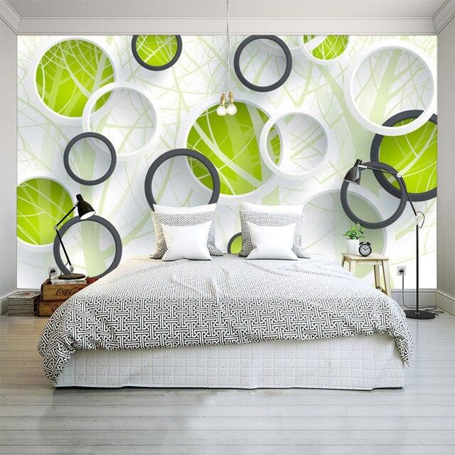 Attraktiv Benutzerdefinierte 3D Foto Tapeten Moderne Abstrakte Kunst Malerei Wandbild  3D Kreise Wohnzimmer Schlafzimmer Sofa Fernsehhintergrundwand Papier
