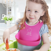 Waterproof Child Large Three Dimensional Silica Gel Baby Bib Baby Bibs Rice Pocket Bib