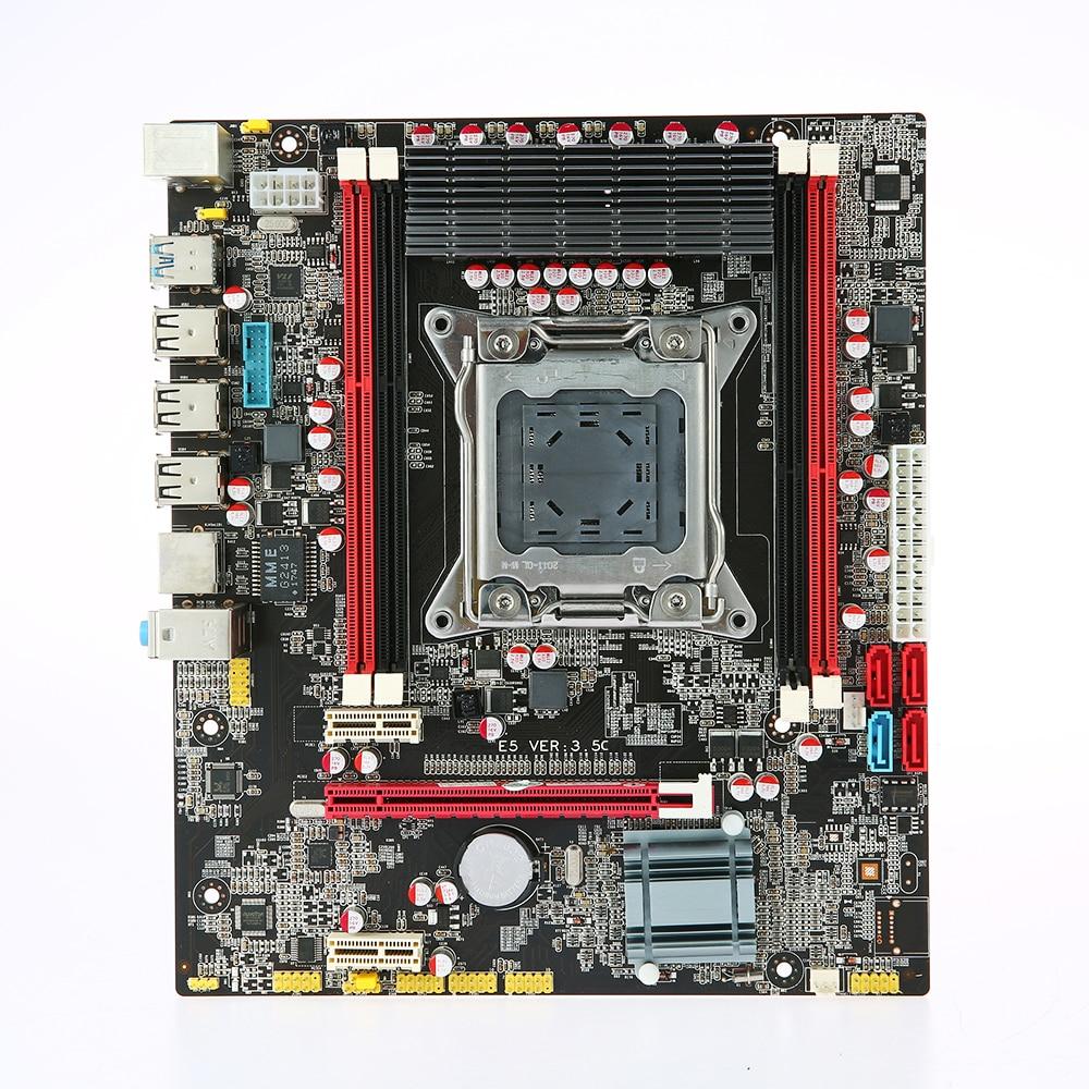 Runing E5 3 5C Motherboard MATX Motherboard SATA 3 0 and USB 3 0 Ports LGA2011