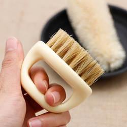 Горячая Для мужчин, щетка для бритья, кабан щетины Пластик уход за кожей лица, для стрижки волос, бороды, усы Очищение укладки