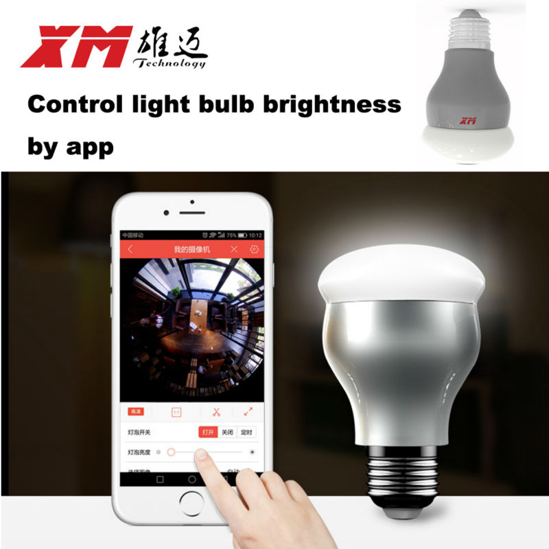 New HD 3MP WiFi IP Camera Panoramic View 360 degree Light Bulb Camera 1080P Smart Home VR 360 Cameras Wireless Built in Micro SD - 2