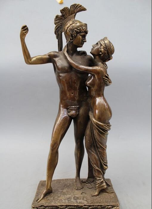 18 western art statue en bronze c l bre deux hommes femmes homme et femme statue sculpture. Black Bedroom Furniture Sets. Home Design Ideas