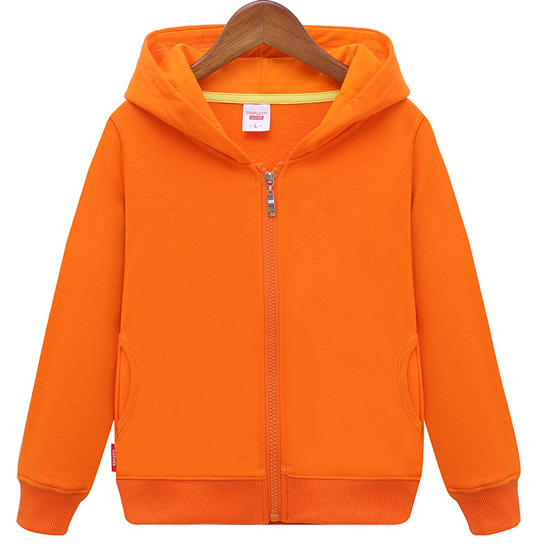 2018 Spring Autumn New fashion Children's Hoodie Sweater Coat Boys Girls High Quality Cotton Solid Sports Leisure Kid Clothes