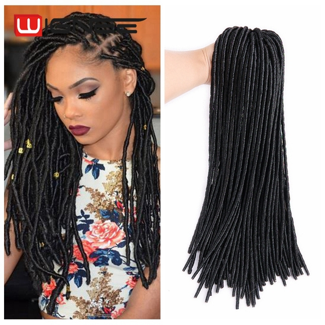 20 Inches Loop Micro Ring Hair Extensions Faux Locs Twist Crochet Braids Synethetic Dreadlocks For