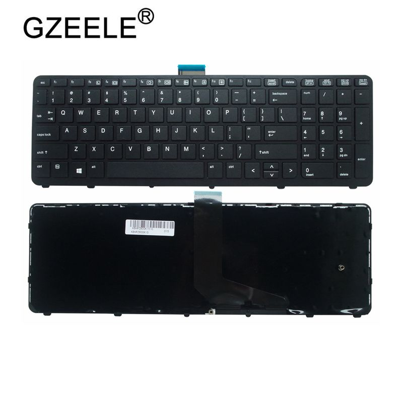 GZEELE NEW English Laptop Keyboard FOR HP For ZBOOK 15 17 G1 G2 PK130TK1A00 SK7123BL US Black