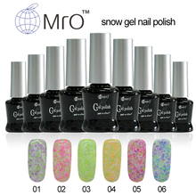MRO Snow China uv color gel nail polish set gel lucky unha de gel varnish professional esmaltes permanentes de uv vernis a ongle
