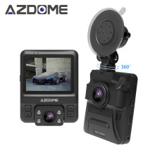 Azdome GS65H Original Mini Dual Lens Car DVR Dash Cam Front Full HD 1080P / Rear 720P Video Recorder Car Camera Night Vision GPS