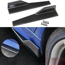 2 pièces/paire voiture universelle en Fiber de carbone modifié carrosserie côté jupe culbuteur séparateurs anti rayures Winglet 45cm ailes pare chocs