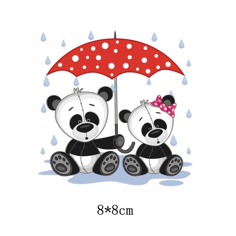 Parches bonitos de animales de dibujos animados plancha de transferencia de calor en parche A nivel prendas de ropa lavables pegatinas impresión fácil por planchas domésticas