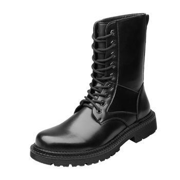 Fashion Ankle Boots winter men's Motorcycle Martin Boots Men Oxfords Mem Shoes Genuine Leather Lace Up Flat Thick Bottom Heel women autumn winter fashion pu ankle martin flat boots waterproof lace shoes patent leather block thick high heel