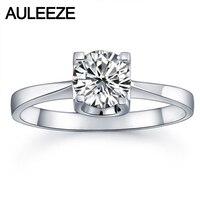Классический зубец Установка 9 К белого золота Обручальные кольца для Для женщин круглый 1ct Nscd Имитация кольцо с бриллиантами свадебные укр