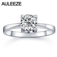 Classic Prong Setting 925 Sterling Silver Wedding Ring Band For Women Round 1CT NSCD Simulated Diamond