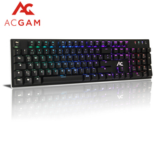 ACGAM RGB Anti-Ghosting gaming mechanical wired keyboard 104 Keys 3ms Response Speed with Backlight Anti-Ghosting for Teclado