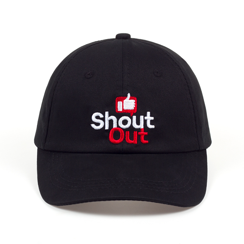 Shout Out Dad Hat 100% Cotton Embroidery Unisex Baseball Caps Thumbs Up Trucker Hat Women Men Summer Snapback Adjustable