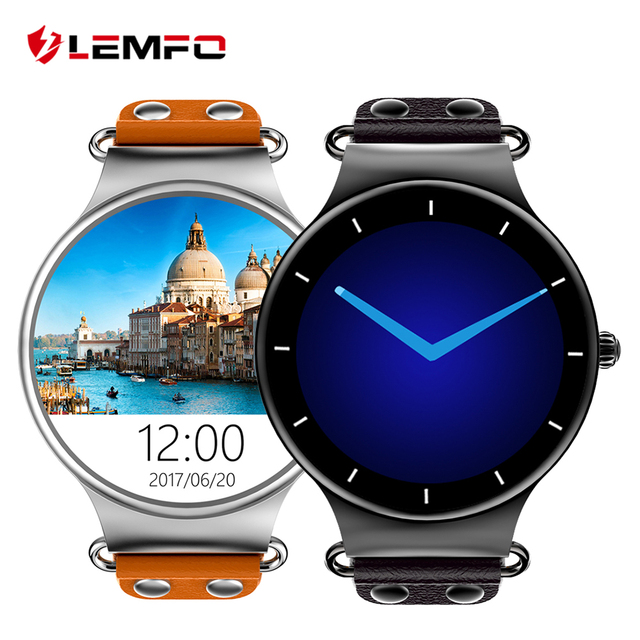 LEMFO LEF1 Android 5.1 Smart Watch Phone MTK6580 512MB / 8GB Support GPS Pedometer Heart Rate Monitor Smartwatch