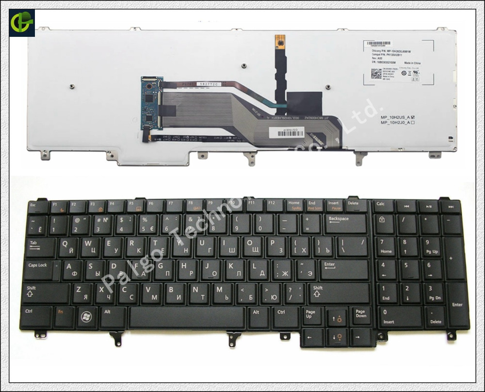 Russian backlit Keyboard for Dell Latitude E6520 E5520 E5530 E6530 E6540 M4700 M6700 E5520M M4600 M6600 M6800 RU trackpoint