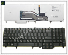 Russian backlit Keyboard for Dell Latitude E6520 E5520 E5530 E6530 E6540 M4700 M6700 E5520M M4600 M6600 RU backlit trackpoint