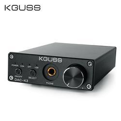 KGUSS DAC-K3 TPA6120 2,0 Мини HIFI USB DAC декодированный аудио усилитель для наушников 24BIT 192 кГц OPA2134 AMP DC12V US/EU