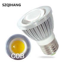 E27 GU5.3 GU10 MR16 lights LED COB Spotlight Dimmable 3W 5W 7W 10W COB Led Spot Light Bulb high power lamp DC 12V 85-265V цена