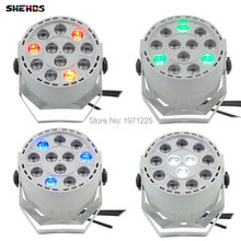 (4pcs) DJs Party light Wash Led Par Stage dmx Light 12x3W RGBW Disco effect controller Dj Equipment projector