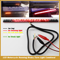 Universal Motorcycle Tail Brake Stop Turn Signal Integrated 3258 LED Light Strip