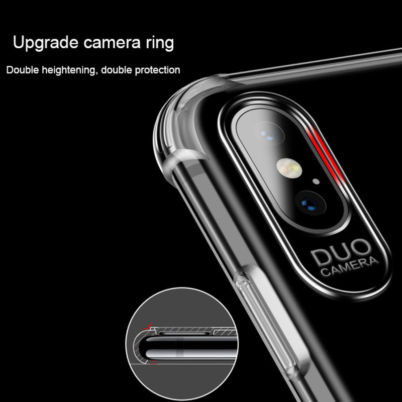 Luxury Case Cover for iphone XS Protective Shell For iphone XS max xr Clear Soft TPU cases cover Shockproof Soft TPU stylish iPhone XS