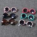 2015 Crianças Óculos de Sol Meninas Meninos Das Crianças Óculos de sol UV400 Óculos De Sol Retro Rodada Do Vintage Oculos De Sol Infantil