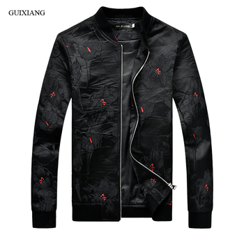 Men fashion Jacquard jacket new Spring style fashion casual men's zippers slim Baseball collar colors coat plus size M-5XL