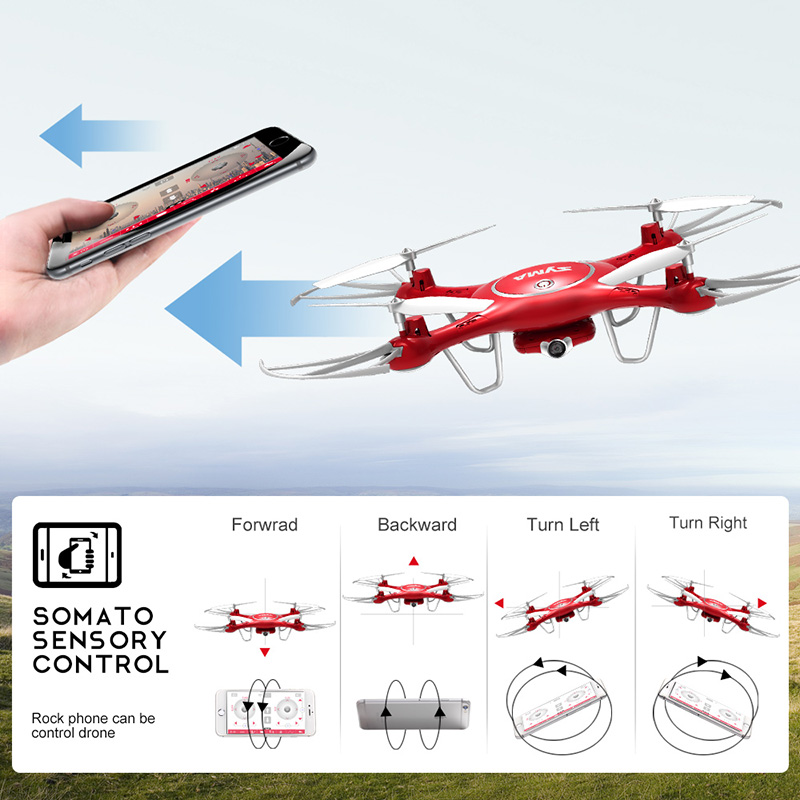 SYMA X5UW Drone with WiFi Camera HD 7P Real-time Transmission FPV Quadcopter 2.4G 4CH RC Helicopter Dron Quadrocopter Drones 9