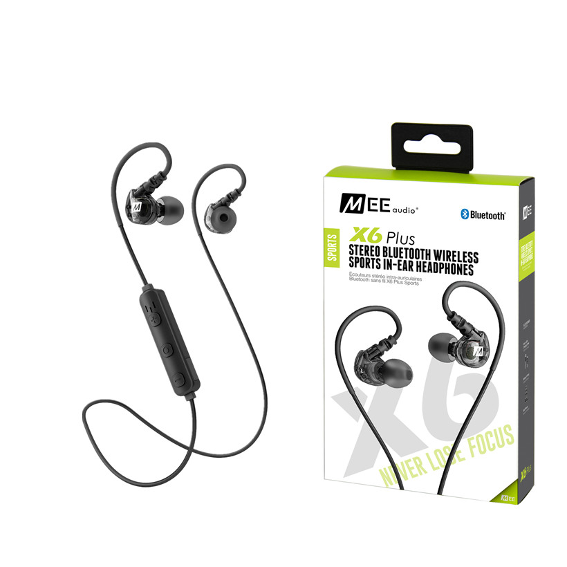 IN STOCK MEE X6 Plus Wireless Earphones Bluetooth Sport Running Earbud Headphone With Mic For Iphone Android In-ear Headset qcy q26 mono earbud business mini headset car calling wireless headphone bluetooth earphone with mic for iphone 6 7 s8 android