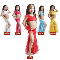 2014 New Style Children Belly Dance Wear Costumes Silver Hot Show Children S Two Piece Suit