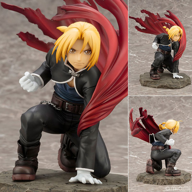 22cm Anime Fullmetal Alchemist Edward Elric PVC action figure collection model toys for Christmas gift no box 10cm no game no life q version anime action figure pvc new collection figures toys collection for christmas gift