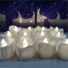 24 Stücke warmweiß Flimmern Velas de cumpleanos LED Kerzen Tee Lichter Kerze Licht für Hochzeit Geburtstag
