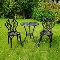 3 шт. алюминиевый набор бистро в антикварных медных стульях и столах для сада с дизайном тюльпана