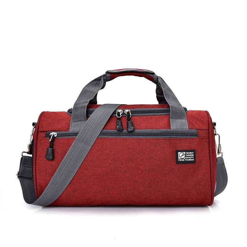 Scione мужские дорожные спортивная сумка легкая багажная деловая женская уличная спортивные сумки плечо Наплечная Сумка - Цвет: Red