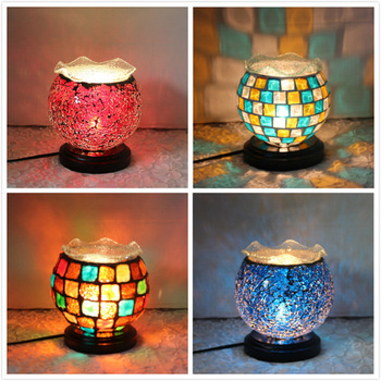 Mosaic Glass Ball Garden Lights Color Changing LED Solar Light Waterproof Solar Powered Table Lamps for Parties Decorations Xmas
