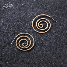 Badu Gold Spiral Earring Stud Mosquito Coil Earrings for Women Fashion Jewelry Gift Wholesale