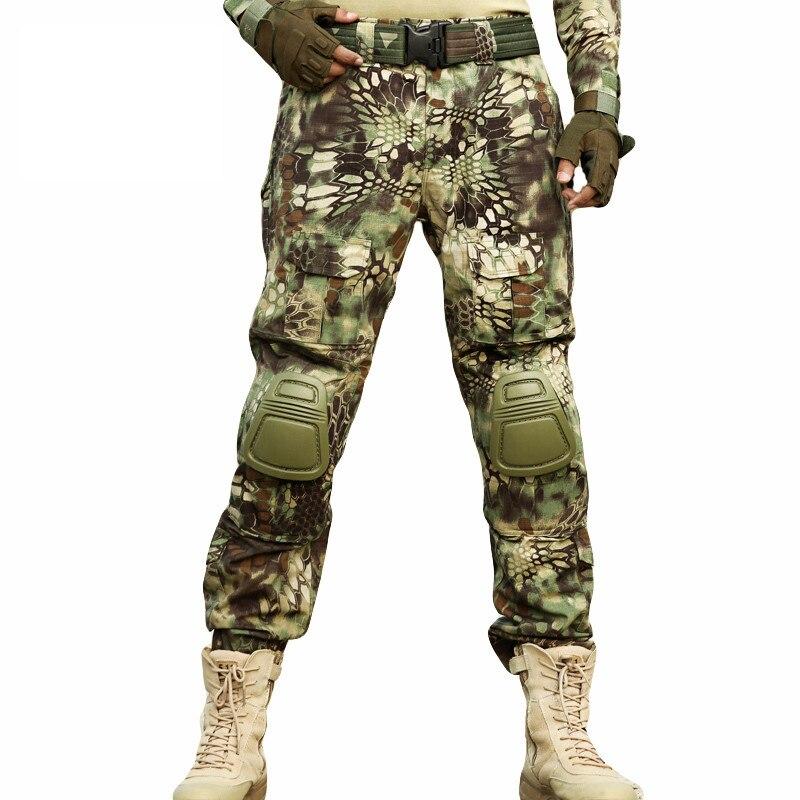 Multicam Camouflage Militar Pantaloni Tattici Esercito Uniforme Militare Pantaloni Acu Airsoft Paintball Combattimento Cargo Pantaloni Con Ginocchiere