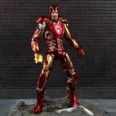 Oryginalny Marvel wybierz Avengers Ironman Mark 45 superbohater Iron Man Model postaci zabawki 18cm