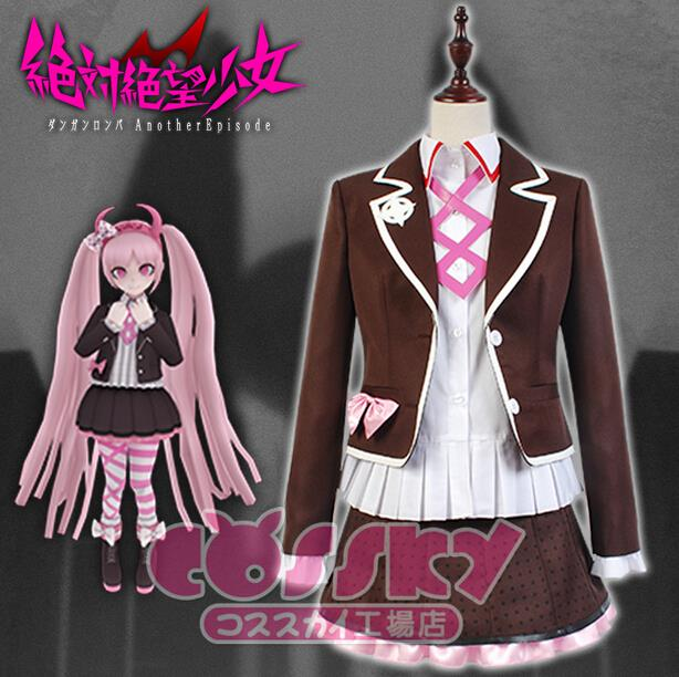 Hot Sale Custom Made Danganronpa Another Episode Utsugi Kotoko Cosplay  Costume
