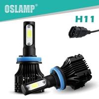 Oslamp S5 72W Pair H11 Auto LED Headlight For Car SUV 6500K CREE COB Chips Fog