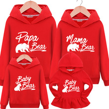 hot deal buy family matching clothes family sweaters mama bear papa baby mother daughter dresses 2019 new family clothes mom daughter matches