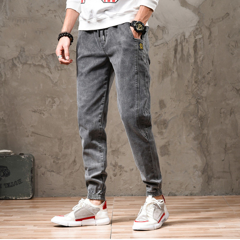 Elastic Jeans Men's Spring And Summer Casual Leggings Korean Version Of The Trend Harlan Cowboy Overalls